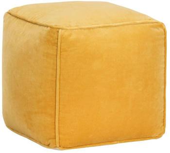 vidaXL Square Bean Bag Velvet Yellow