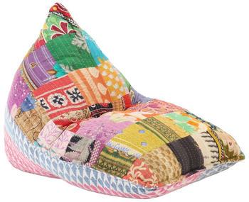vidaXL Couch Bean Bag Fabric Patchwork Multicolour