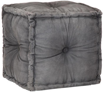 vidaXL Cube Bean Bag in Dark Grey Fabric