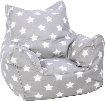 Knorrtoys Kindersitzsack grey white stars