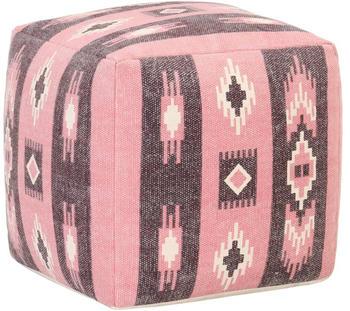 vidaXL Cube Beanbag Multicolor Cotton Pink