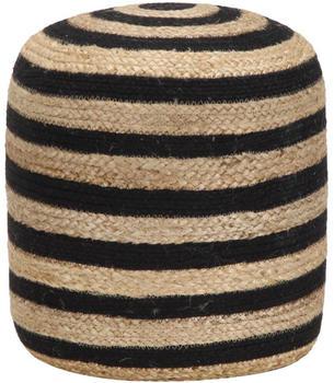 vidaXL Handmade Bean Bag in Jute Beige/Black 40 x 45 cm