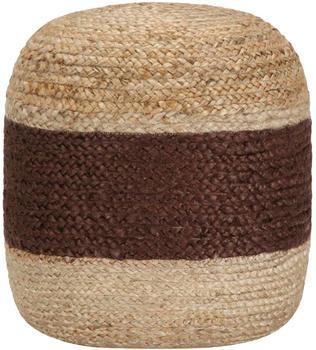 vidaXL Handmade Bean Bag in Jute Brown/Beige 40 x 45 cm
