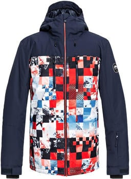 Quiksilver Men's Mission Block Jkt flame scarlett/money time