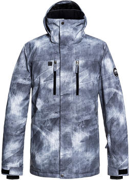 Quiksilver Men's Mission Printed Jkt grey simple texture