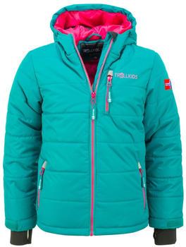 Trollkids Kids Hemsedal Snow Jacket smaragd/rubin
