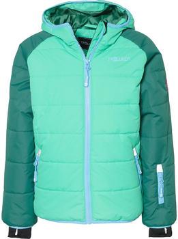 Trollkids Kids Hafjell Snow Jacket dark green/neon