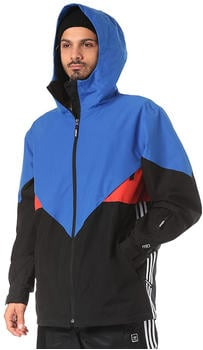 Adidas Premiere Riding Jacket black/white/hires blue/hires red