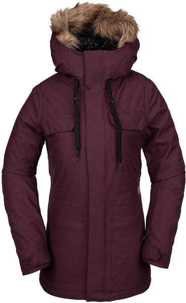 Volcom Shadow Ins Jacket Women Bordeaux