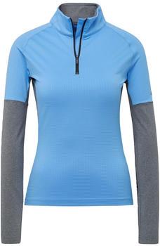Adidas Women Terrex Xperior Long-Sleeve Top real blue/dark grey heather (DZ0742)