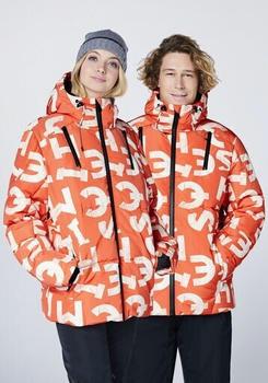 Chiemsee GISTOLA Men, Ski Jacket, Regular Fit (22203504) 2110 orange/wht aop