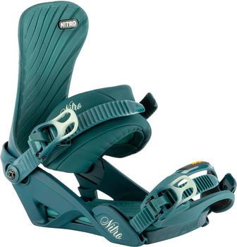 Nitro Ivy Snowboard Bindings (2021) blue leaf