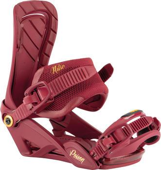 Nitro Poison Snowboard Bindings (2021) royal red