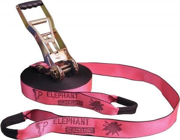 Elephant Slacklines Addict Flashline-Set Slackline 25m pink