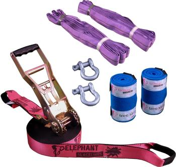 Elephant Slacklines Freak Flashline-Set Slackline 15m pink