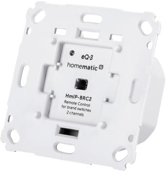 Homematic IP Wandtaster für Markenschalter – 2-fach (HmIP-BRC2)
