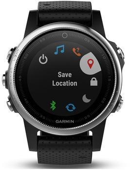 Garmin Fenix 5S Saphir schwarz mit schwarzem Armband