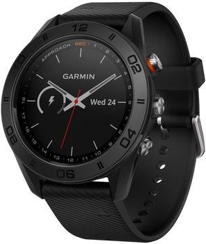 Garmin Approach S60 schwarz mit schwarzem Silikonarmband