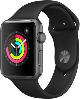 Apple Watch Series 3 GPS Space Grey 42mm Black Sport Band