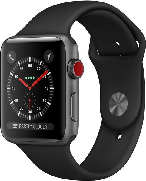 Apple Watch Series 3 GPS + Cellular Space Gray Aluminium 42mm Black Sport Band