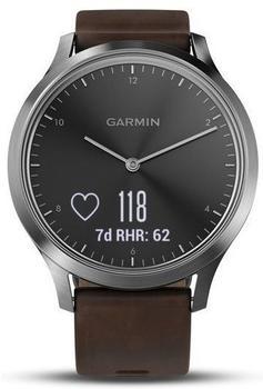 Garmin vivomove HR Premium L silver/ dark brown
