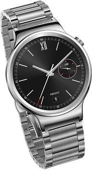 Huawei Watch Classic mit Gliederarmband silber
