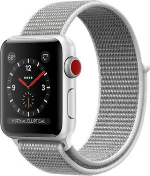 Apple Watch Series 3 GPS + Cellular Silver Aluminum 38mm Seashell Sport Loop
