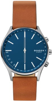 skagen-connected-holst-leder-braun