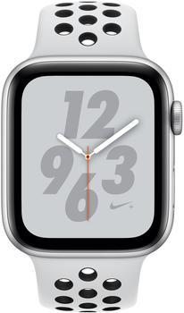 apple-watch-series-4-nike-gps-cellular-44mm-silber-sportarmband-pure-platinum-schwarz