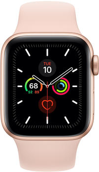 Apple Watch Series 5 GPS 44mm Aluminium gold Sportarmand sandrosa