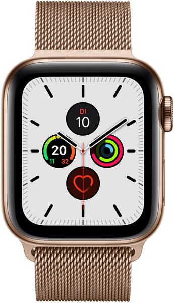 Apple Watch Series 5 GPS + LTE 40mm Edelstahl gold Milanaise gold