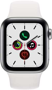 apple-watch-series-5-gps-lte-40mm-edelstahl-silber-sportarmband-weiss
