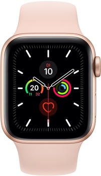 Apple Watch Series 5 GPS + LTE 44mm Aluminium gold Sportarmband pink