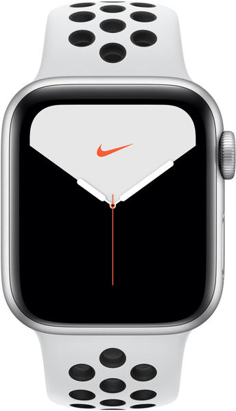 Apple Watch Series 5 Nike+ GPS + LTE 44mm Silber Pure Platinum/Schwarz
