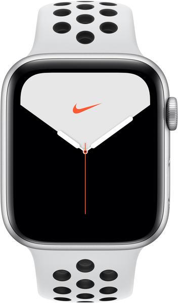 Apple Watch Series 5 Nike+ GPS 44mm Silber Platinum/Schwarz