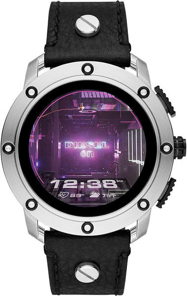 Diesel ON Axial Silver Leather Black
