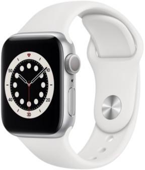 Apple Watch Series 6 Silber Aluminium 40mm Sportarmband Weiß