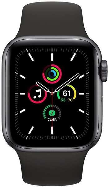 Apple Watch SE Space Grau 40mm Sportarmband Schwarz