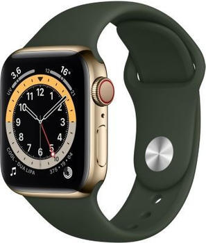 apple-watch-series-6-lte-gold-edelstahl-40mm-sportarmband-zyperngruen