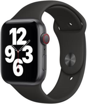 Apple Watch SE LTE Space Grau 44mm Sportarmband Schwarz