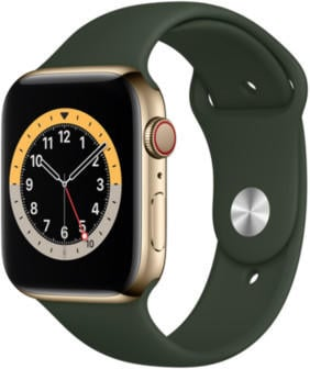 apple-watch-series-6-lte-gold-edelstahl-44mm-sportarmband-zyperngruen