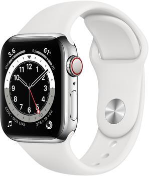 apple-watch-series-6-lte-silber-edelstahl-40mm-sportarmband-weiss