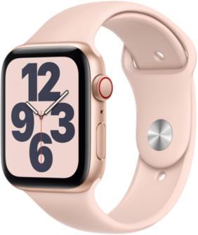 Apple Watch SE LTE Gold 44mm Sportarmband Sandrosa