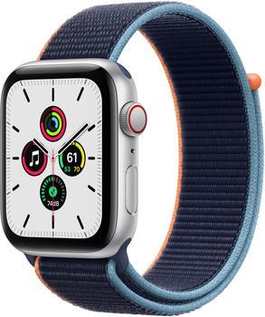 Apple Watch SE LTE Silber 44mm Sport Loop Dunkelmarine