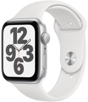 Apple Watch SE Silber 44mm Sportarmband Weiß