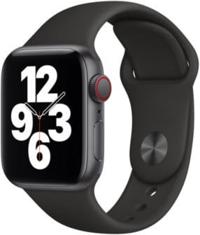 Apple Watch SE LTE Space Grau 40mm Sportarmband Schwarz