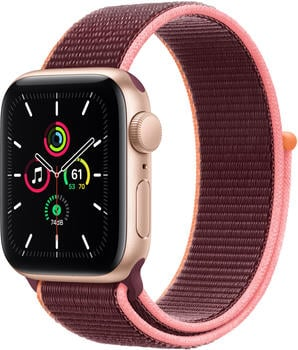 Apple Watch SE Gold 40mm Sportarmband Pflaume