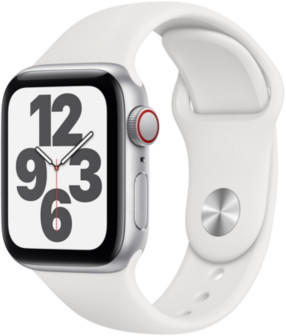 Apple Watch SE LTE Silber 40mm Sportarmband Weiß