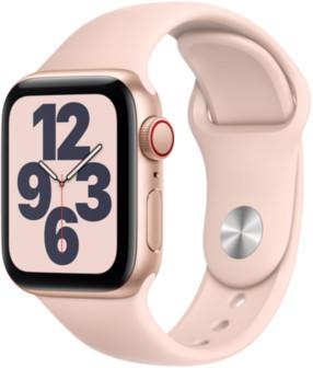 Apple Watch SE LTE Gold 40mm Sportarmband Sandrosa