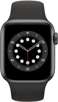 Apple Watch Series 6 LTE Graphit Edelstahl 40mm Sportarmband Schwarz